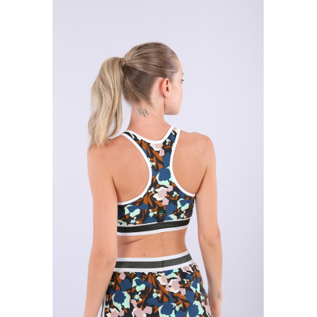 Floral Yoga Top - Made in Italy - BMP - Floral