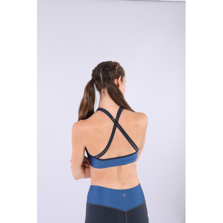 Bio D.I.W.O Yoga Top - Made in Italy - B107B - Blu Vienna