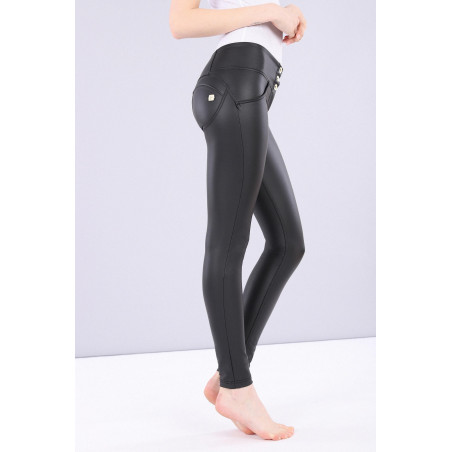 WR.UP Ecoleather - Mid Waist Skinny - N0 - Black