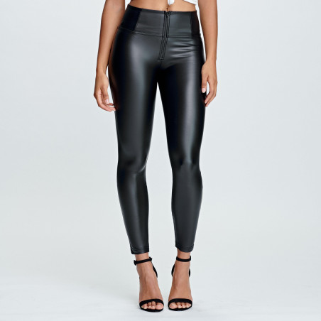 WR.UP Ecoleather - High Waist Super Skinny - 7/8 Length - N0 - Black