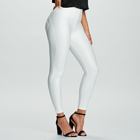 WR.UP Ecoleather - Regular Waist Super Skinny - 7/8 Length - W0 - White