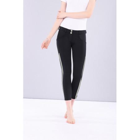 Брюки WR.UP® Performance Fabric с полосами - Skinny - Средняя талия - Длина 7/8 - N - Черный
