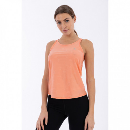 Tank Top With A Gathered Back - Made In Italy - P111 - Blooming Dahlia
