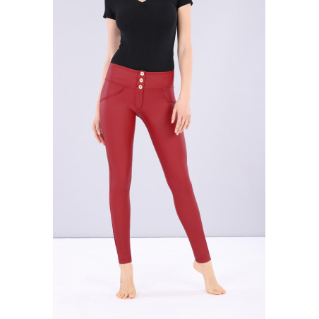 WR.UP® Ecoleather - Mid Waist Skinny - R680 - Red