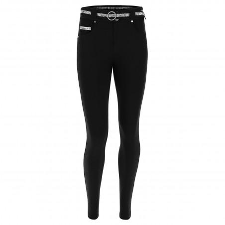 N.O.W.® Pants - Mid Waist Skinny - N0 - Black
