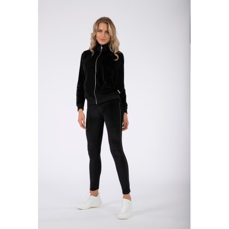 WR.UP® Tracksuit - Soft Chenille With Glitter Bands - N - Black