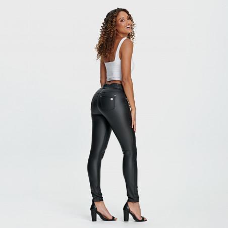N.O.W.® Pants - Mid Waist Skinny Ecoleather - N0 - Black