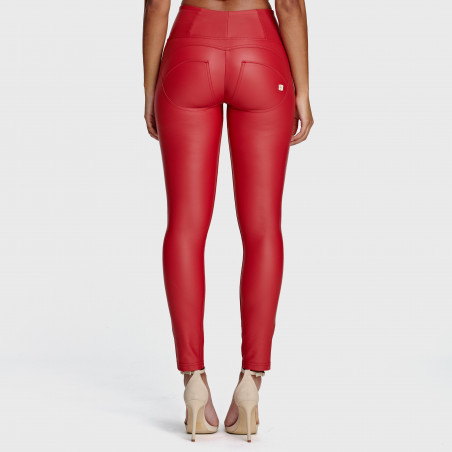 Брюки WR.UP® Ecoleather - Mid Waist Skinny - R680 - Red