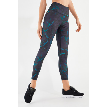 Energy Pants® In D.I.W.O® - High Waist Skinny - 7/8 Length - FLO14 - Allover Flower
