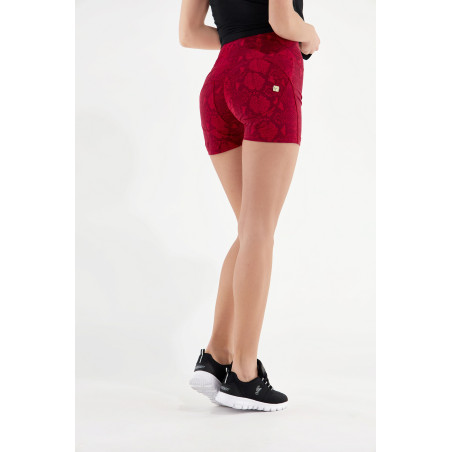 WR.UP® High Waist Shorts - Snake Print - R11G - Reptile Red