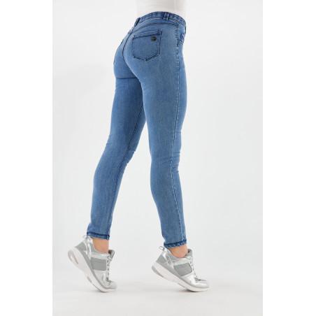 Freddy Black - Skinny Jeans In Stretch Denim - J4B - Clear Denim - Blue Seams