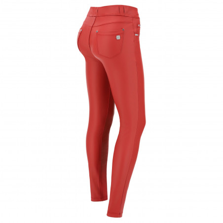 N.O.W® Pants - Mid Waist Skinny Ecoleather - R108 - Red