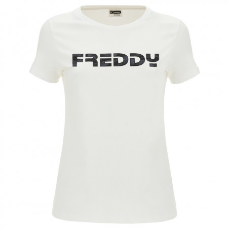 Футболка с коротким рукавом - Логотип Freddy - Белый