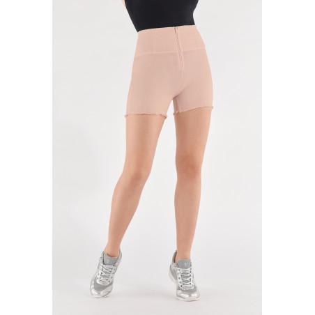 WR.UP® Denim Effect - High Waist Shorts - Frayed Hemline - P34 - Rose Cloud