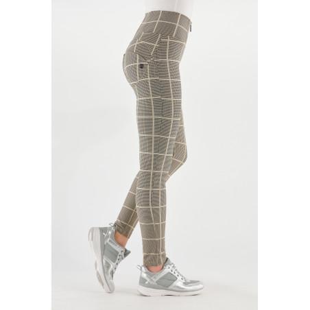 WR.UP® High Waist Skinny - Glen Plaid Fabric - NMZ - Pied De Poule