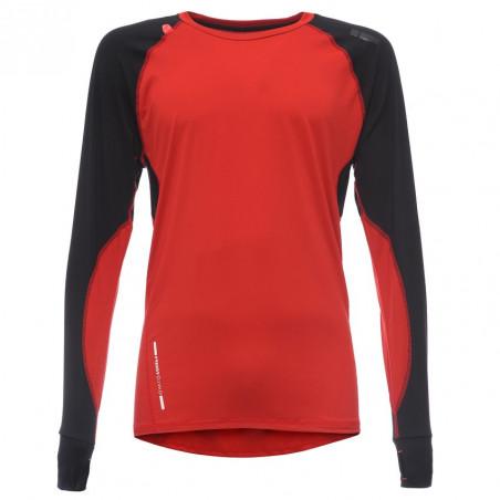D.I.W.O® Футболка с длинным рукавом - Техническая - R57N - Красный & черный