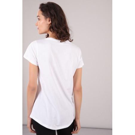 Комфортная футболка с коротким рукавом и с круглым вырезом - W - Белый