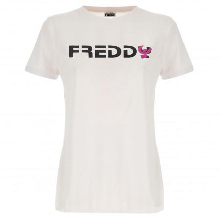 Футболка с коротким рукавом - Логотип Freddy - W - Белый