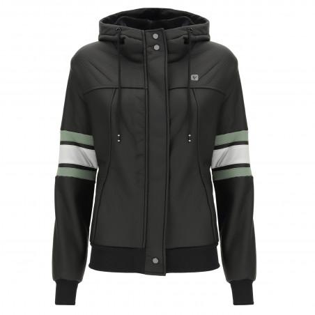 Куртка Freddy из искусственной кожи - Брызгозащитная ткань - N - Черный